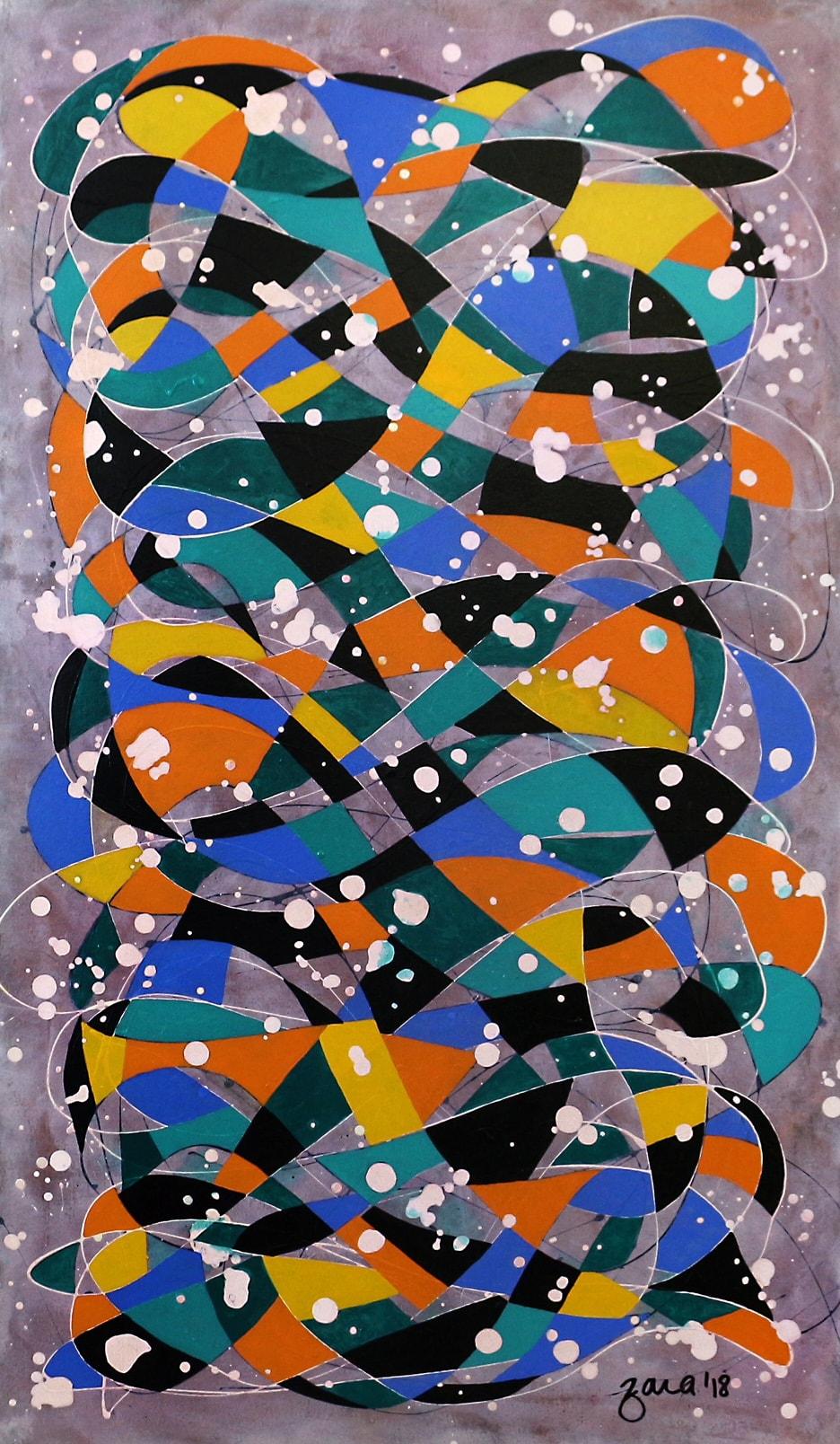 Disarray, 24 x 42 Inch, Acrylic on Canvas, AC-ZRK-007