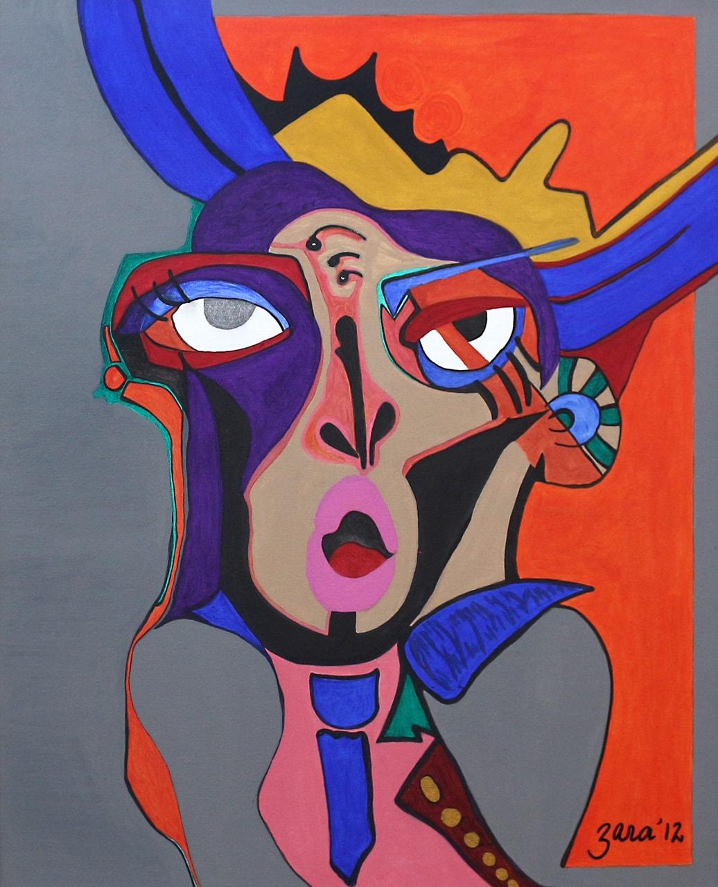 Loud Moth, 24 x30 Inch, Acrylic on Canvas, AC-ZRK-025